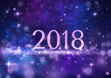 Hintergrund des neuen Jahres 2018 Vektor eps10 Stockfotos
