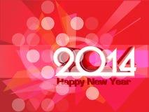 Hintergrund 2014 des neuen Jahres. Vektorillustration Lizenzfreie Stockfotografie