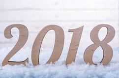 Hintergrund des neuen Jahres: 2018 Zahlen Nahaufnahme Lizenzfreies Stockbild