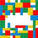Hintergrund des Plastikwürfels mit Raum für Text Lizenzfreie Stockfotografie