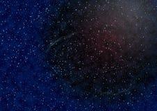 Hintergrund des Platzes mit Sternen Stockbild