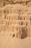 Hintergrund des Quarzsandes. Stockfoto