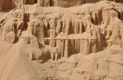 Hintergrund des Quarzsandes. Lizenzfreie Stockbilder