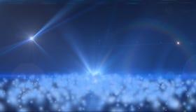 Hintergrund des Raumes mit einem Stern und Wolken Lizenzfreie Stockfotos