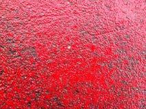 Hintergrund des Raumes mit roter Farbe Stockbilder