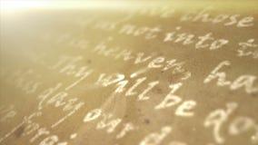 Hintergrund des religiösen Textes stock video