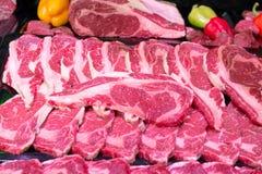 Hintergrund des rohen Fleisches Stockfotografie