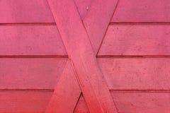 Hintergrund des roten Holzes des Hauses Lizenzfreie Stockfotografie