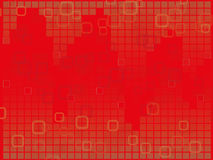 Hintergrund des roten Quadrats Stockfotografie
