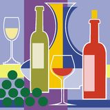 Hintergrund des roten und weißen Weins vektor Stockfotos