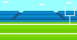 Hintergrund des Rugbystadions Lizenzfreie Stockfotos