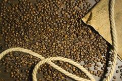 Hintergrund des schwarzen Kaffees Stockbild