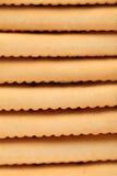 Hintergrund des Stange Saltine-Sodacrackers. Stockfoto