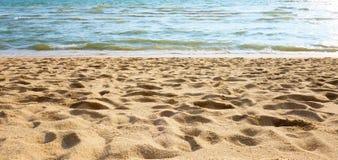 Hintergrund des Strandes sand Stockfotografie
