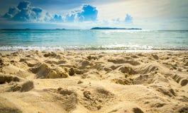Hintergrund des Strandes sand Lizenzfreie Stockfotos