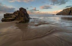 Hintergrund des Strandes sand stockfoto