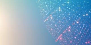 Hintergrund des unbegrenzten Raumes des Vektors Matrix des Glühens spielt mit Illusion der Tiefe und der Perspektive die Hauptrol Stockbild