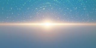 Hintergrund des unbegrenzten Raumes des Vektors Matrix des Glühens spielt mit Illusion der Tiefe und der Perspektive die Hauptrol Stockfotografie