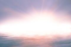Hintergrund des unerklärlichen hellen Lichtes Stockfotos