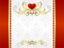 Hintergrund des Valentinsgrußes Lizenzfreies Stockbild