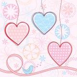 Hintergrund des Valentinsgrußes. Lizenzfreie Stockfotografie