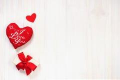 Hintergrund des Valentinsgrußes mit Innerem Stockfotografie