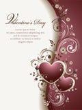 Hintergrund des Valentinsgrußes Stockfotografie