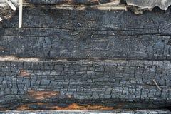 Hintergrund des verkohlten Holzes lizenzfreie stockbilder
