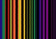 Hintergrund des Vibrierens von farbigen Bands, ähnlich dem Bild von Schallwellen lizenzfreie abbildung
