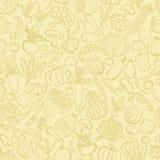 Hintergrund des von Hand gezeichneten Gemüses Lizenzfreie Stockfotografie