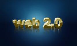 Hintergrund des Webs 2.0 Lizenzfreies Stockfoto