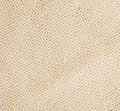 Hintergrund des weißen groben Leinenstoffes Lizenzfreies Stockbild