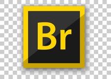 Hintergrund des weißen Quadrats des Adobe-Brückenikonendesigns Lizenzfreies Stockbild