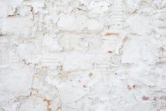 Hintergrund des weißen Ziegelsteines der grungy Beschaffenheit des Alters und der Steinwand Stockfotos