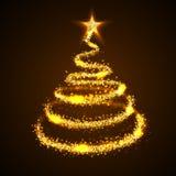 Hintergrund des Weihnachtsbaums Stockfotos