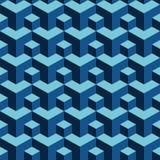 Hintergrund des Wiederholens von dreidimensionalen Blöcken Stockfotografie