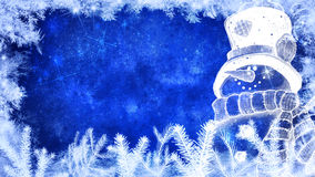 Hintergrund des Winters und der frohen Weihnachten Lizenzfreie Stockfotografie