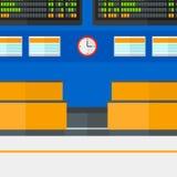 Hintergrund des Zeitplanbrettes im Flughafen Stockfotos