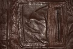 Hintergrund, die Beschaffenheit der ledernen Kleidungs lizenzfreie stockfotografie