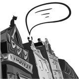 Hintergrund die Stadt der grauen Farbe Lizenzfreie Stockfotos