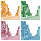 Hintergrund die Stadt von verschiedenen Farben Lizenzfreies Stockbild