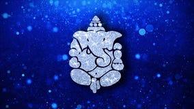 Hintergrund Diwali Lord Ganesh Element Blinking Icon Particles stock abbildung