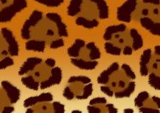 Hintergrund - eine flaumige Haut eines Jaguars lizenzfreie abbildung
