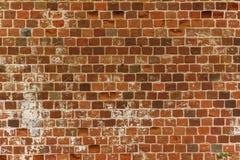 Hintergrund einer alten Backsteinmauer der roten Farbe Alte Wand Stockfoto
