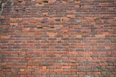 Hintergrund einer Backsteinmauerbeschaffenheit, 50 Jahre alt Lizenzfreie Stockfotografie