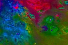 Hintergrund einer hellen Acrylfarben-Palettennahaufnahme schlaf Hintergrund Beschaffenheit Lizenzfreie Stockfotografie