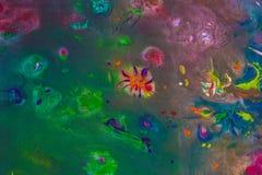 Hintergrund einer hellen Acrylfarben-Palettennahaufnahme schlaf Hintergrund Beschaffenheit Lizenzfreie Stockbilder