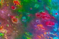 Hintergrund einer hellen Acrylfarben-Palettennahaufnahme schlaf Hintergrund Beschaffenheit Stockfoto