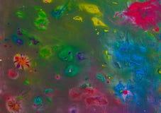 Hintergrund einer hellen Acrylfarben-Palettennahaufnahme schlaf Hintergrund Beschaffenheit Stockfotografie