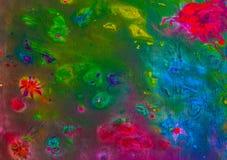 Hintergrund einer hellen Acrylfarben-Palettennahaufnahme schlaf Hintergrund Beschaffenheit Stockbilder